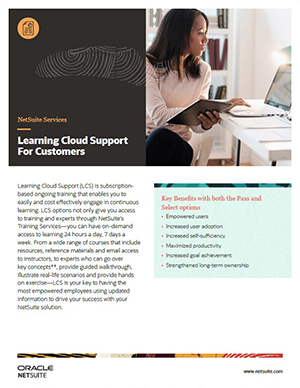 NetSuite Learning Cloud Support Overview