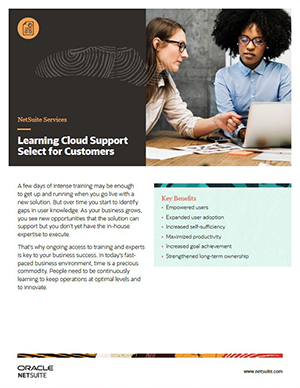 NetSuite Learning Cloud Support Select