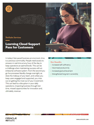 NetSuite Learning Cloud Support Pass